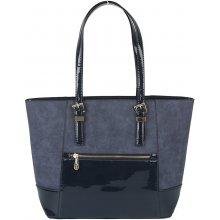 Gallantry kabelka kombinace mat x lesk modrá
