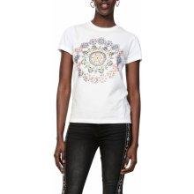 Desigual tričko TS Annette s barevnými motivy bílé 1370040b86b