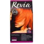 REVIA barva na vlasy 06 Mahagony mahagonová 50 ml + 20 ml + 50 ml