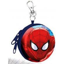 Euroswan Dětská kovová peněženka s karabinou Spiderman 7x3 cm