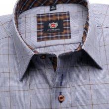 London pánská košile modrá s kostkou 5596 5b99c4da5d