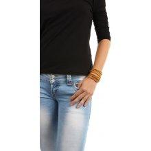YooY dlouhý kamínkový náramek zlatá 94BZE32 zlatá