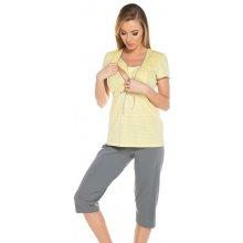 Italian Fashion těhotenské a kojící pyžamo Felicita žluté