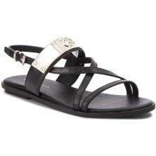 Tommy Hilfiger dámské černé sandály Flat a5c39cf5d5