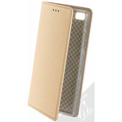 Pouzdro Sligo Smart Magnet Huawei P8 Lite zlaté