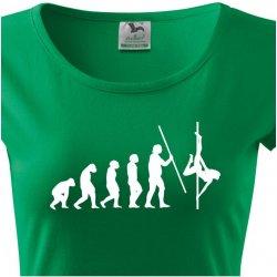 2bac3c32f24 Dámské tričko s vtipným potiskem evoluce Pole dance Zelená od 349 Kč ...