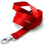 Idsys Šňůrka na krk pevná textilie - červená
