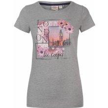 0154675ee67 Lee Cooper Fashion Photo T Shirt Ladies Grey M Flwr
