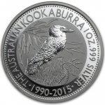 Kookaburra Stříbrná mince 1 AUD Australian Ledňáček 1oz 2015