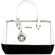 Gallantry kabelka s černým pruhem bílá