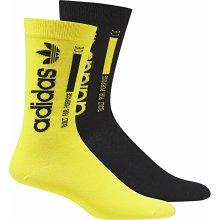 Adidas ponožky Originals SOCK 2PP CREW Černá / Žlutá