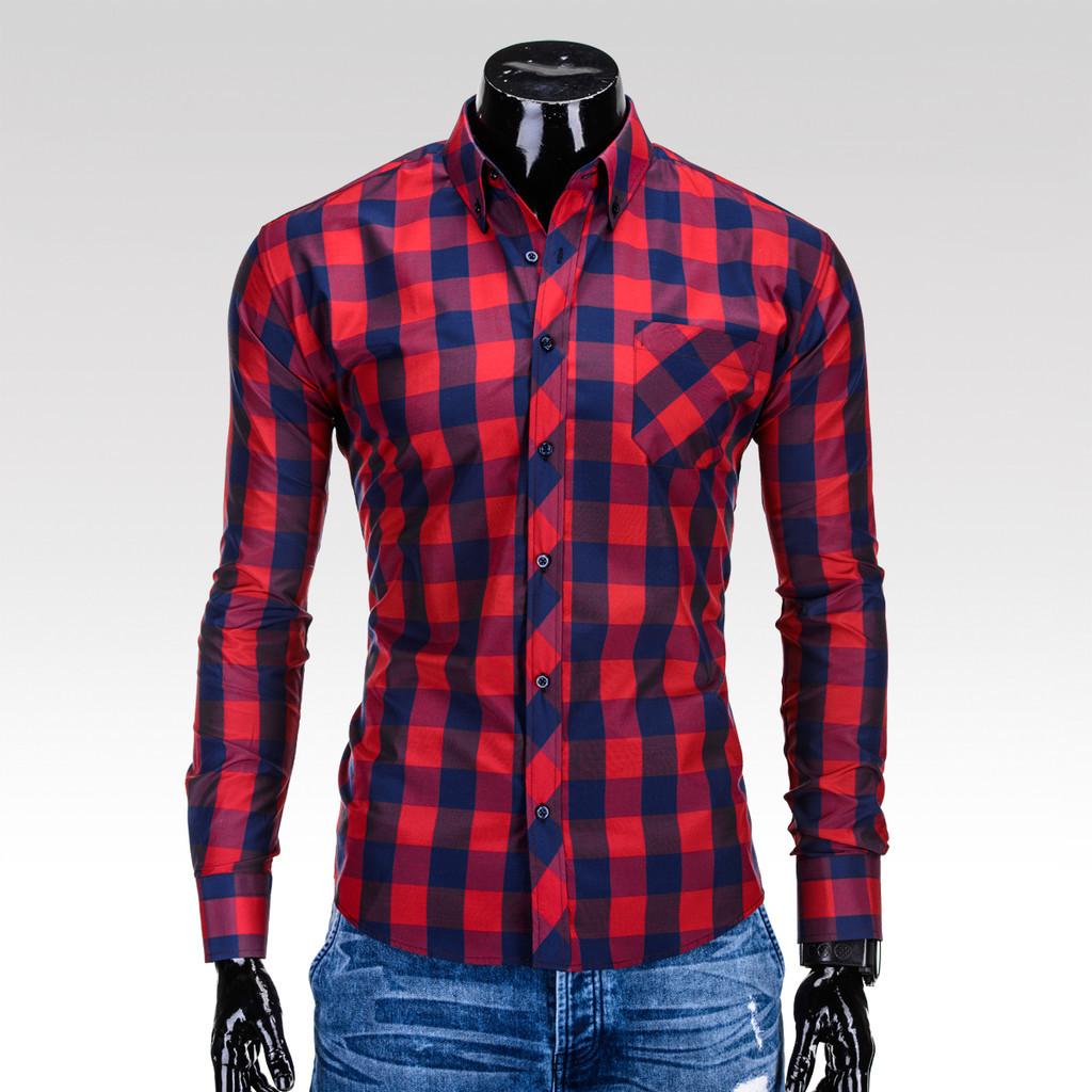 Ombre Clothing pánská košile Lamar červeno-černá alternativy - Heureka.cz 42c5fa25e2