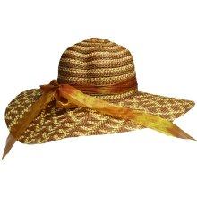 Jenifer SK-1427DarkBrown Dámský slaměný klobouk s mašlí tmavohnědý 45b2308c13