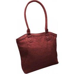 Tapple moderní kabelka z broušené kůže Vínová bordó 4efe3435055