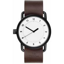 TID Watches No.1 White/ Walnut Wristband