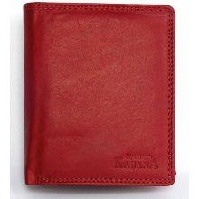 celá kožená pánská peněženka Červená