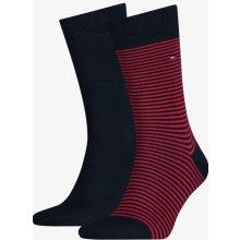 Tommy Hilfiger 2 pack pánských ponožek Original Red/Blue