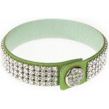 Swarovski Dazzle Crystal zelený třpytivý náramek 2209
