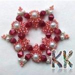 Vánoční hvězda, Barva Tmavě červená Korálky Katlas