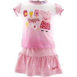 Souprava sukýnka a tričko s krátkým rukávem Peppa růžová