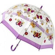 Blooming Brollies Dětský průhledný holový deštník Buggz Kids Stuff Butterfly BUBY