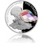 Česká mincovna Stříbrná mince Crystal Coin Anděl strážný crystal AB proof 31,1 g