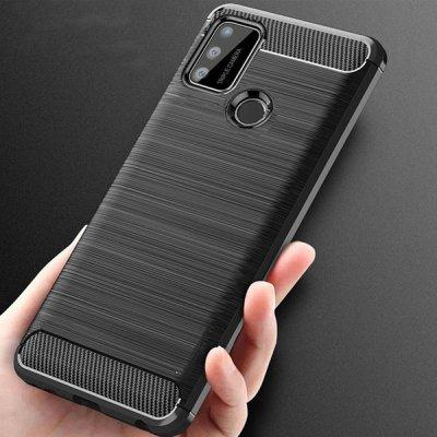Pouzdro SES Ochranné silikonové obal karbon Honor 9X Lite - černé 7700