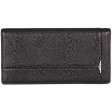 GIUDI pánská velká černá kožená peněženka 7071