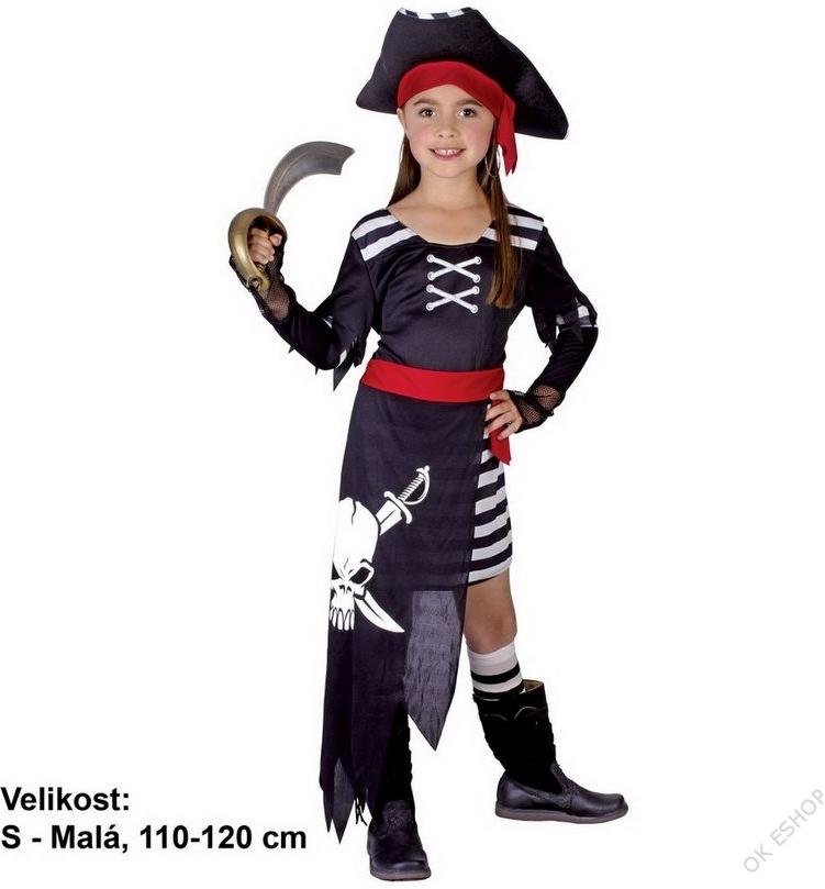 d8a87333c324 Dětský karnevalový kostým Šaty Pirátka - Seznamzboží.cz