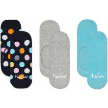87b5d483ac1 Happy Socks Nízké ponožky Big Dot černé - tři páry