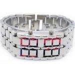 LED IRON SAMURAI, Stříbrné červené