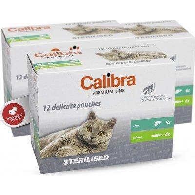 Calibra Cat Multipack kapsiček Sterilised 12 ks - Calibra Cat kapsa Premium Steril. multipack 12 x 100 g