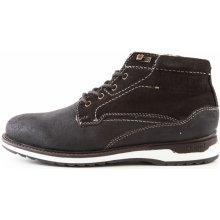 d66b249c5ab Pánské zimní kožené kotníkové boty 321-35750   tmavě hnědá