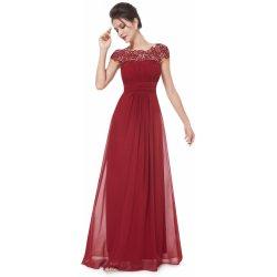 Ever Pretty krajkové šaty EP09993BD vínově červená e69119451e