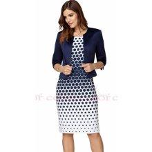 3ba8100165cd Color collection zeštíhlující šaty s modrým sakem modrobílá