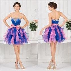 Fialovo modré koktejlové šaty s řasenou sukní alternativy - Heureka.cz 8994b642fa