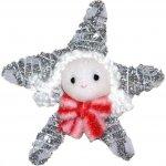 Wiky Dekorace vánoční - hvězda bílo-stříbrná