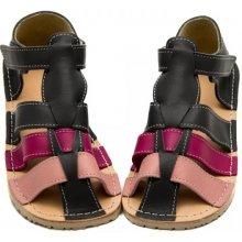 Barefoot dětské sandály ZEAZOO MARLIN GRAY PINK e65784680b