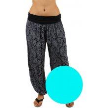 Glara Dámské harémové kalhoty s ornamenty světle modrá f0c0ffb1cf