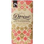 Divine čokoláda bílá s jahodami 100 g
