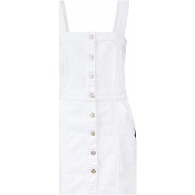 Esmara dámská džínová sukně s laclem BIO bílá