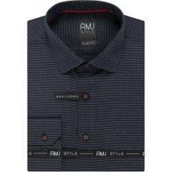 AMJ Pánská košile tmavě šedá kostičkovaná VDPR1008 ef89e87c95