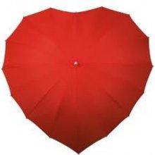 Deštník ve tvaru srdce
