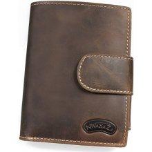 Nivasaža kožená peněženka N25-HNT-BR hnědá