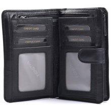 Valentini Dámská peněženka na výšku kožená se zipem na drobné černá, 10 x 2 x 13 (SV00-306ST01-09KUZ)