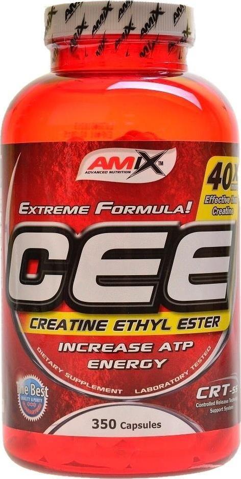 Výsledek obrázku pro Amix - CEE Creatine Ethyl Ester 350 cps
