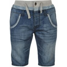 No Fear Double Waist Denim Shorts Mens Dark wash