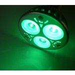 T-Led Barevná LED žárovka GU10 3W 230W 60° 50000h zelená