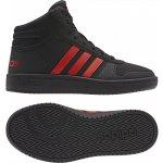 Adidas Performance HOOPS MID 2.0 K Černá   Červená 97203da29ed