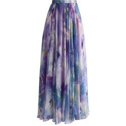 Chicwish dámská maxi sukně věčná romantika fialová alternativy ... 905bdb9e95e